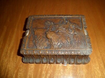 Vintage Wood-Like Box with Wolf / Wolves