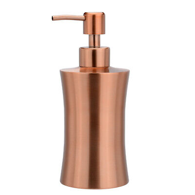 400ml Bathroom House Toilet Soap Lotion Pump Dispenser Press Bottle Rose Gold