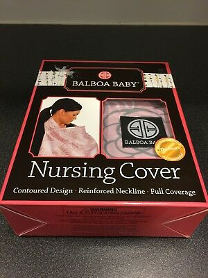 Balboa Baby Pink//Grey Floral Nursing Cover Brand New