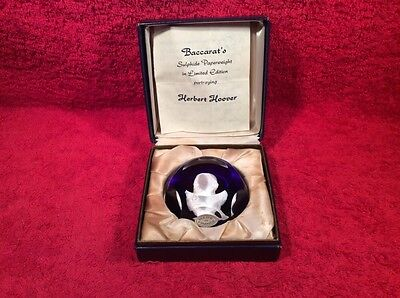 Baccarat Hoover Limited Edition Paperweight in Original Box
