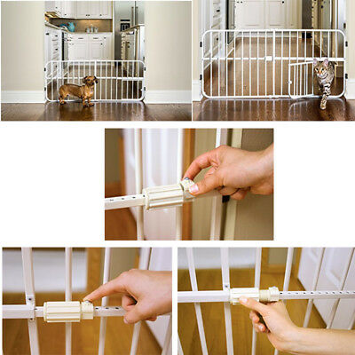 Pet Dog Gate Puppy Cat Door Expandable Barrier Animal Fence Indoor Safety Lock