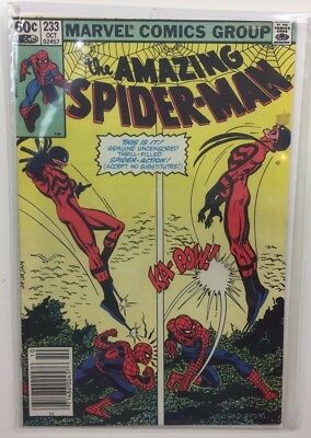 The Amazing Spider-Man Issue 233 Marvel John Romita Jr 1982 Bag & Board Included