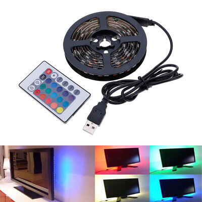 USB RGB 5050SMD 60LED TV Backlighting Color Changing Strip Light Waterproof New