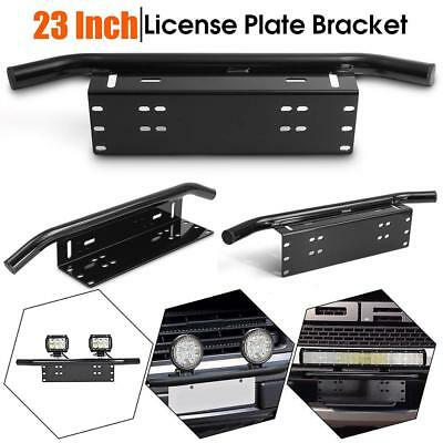 Car Front Bumper License Plate Bull Bar Mount Bracket Holder Offroad Light OC