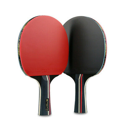 Pair Of 3 Stars Table Tennis Racket Ping Pong Bat w/ 3 Balls + Carrying Bags Set