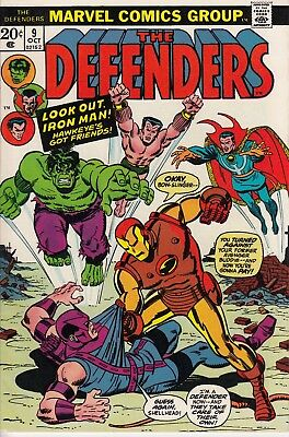 The Defenders #9 (Oct 1973, Marvel) Comic Book