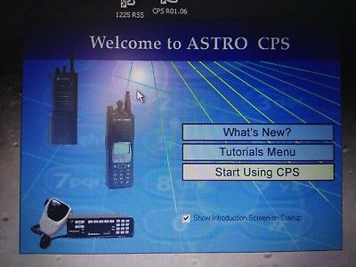 Motorola Radio Programmer CPS RSS ASTRO SABER SPECTRA COMMERCIAL SERIES