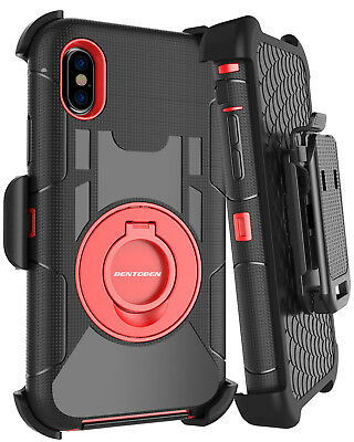 For iPhone Xs Max XR Heavy Duty Hard Cover Case Shockproof Belt Clip w/Kickstand