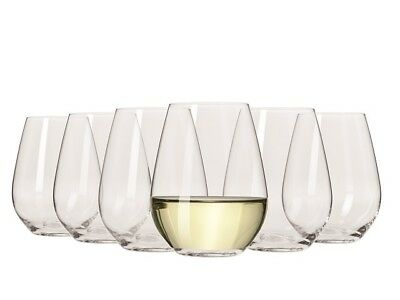 NEW Krosno Vinoteca Stemless White Wine Glass Set 400mL RRP$39.95