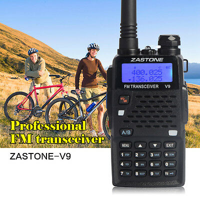 Ship From UK Zastone V9 Walkie Talkie 136-174/400-520Mhz VHF/UHF Two way Radio