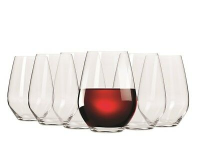 NEW Krosno Stemless Red Wine Glass Set 540mL RRP$39.95