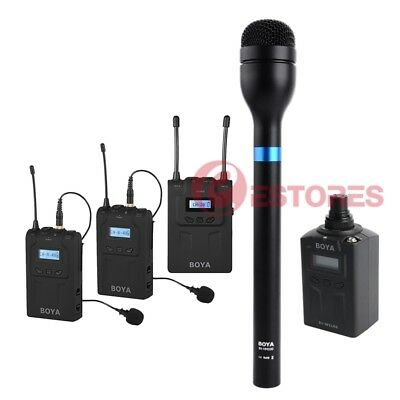 3in1 BOYA BY-WM8+BY-WXLR8+BY-HM100 Wireless Microphone System For ENG&Interviews