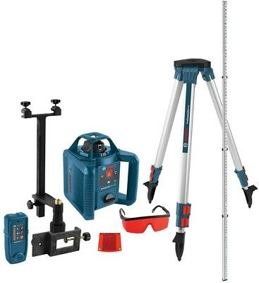 Bosch Rotary Laser Level Complete Kit Reconditioned 800 ft Self-Leveling 5-Piece
