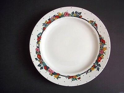 """At Home with Mary Engelbreit dinner plate Always flowers dots Sakura 1995 11"""""""