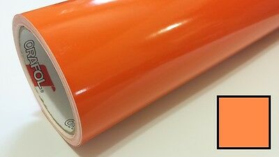 "Gloss Light Orange Vinyl 48""x30' Roll Sign Making Decal Supplies Decoration"