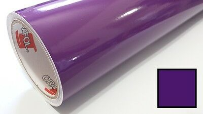 "Glossy Violet Purple Oracal 651 24"" x 30 Ft Roll Vinyl Craft Cutters Vinyl Sign"