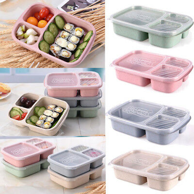 AU Microwave Bento Utensils Lunch Box Picnic SuShi Food Container Storage Box