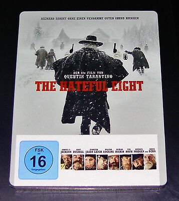 The Hateful 8 Quentin Tarantino Limited Steelbook Edition Blu Ray New & Vintage