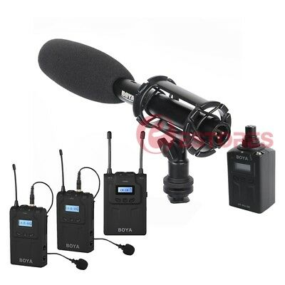 3in1 BOYA BY-WM8+BY-WXLR8+BY-PVM1000 Wireless Microphone System For EFP ENG DSLR