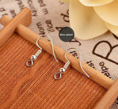 High Quality 100pcs Earring Hook Coil Ear Wire For Jewelry Making Findings