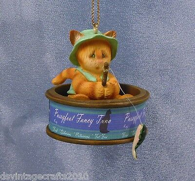 Tuna Cat Fisherman Orange Tabby Christmas Ornament New