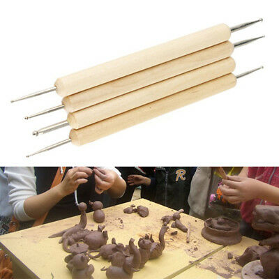 4x Clay Sculpting Set Wax Carving Pottery Tools Shapers Polymer Modeling Ceramic