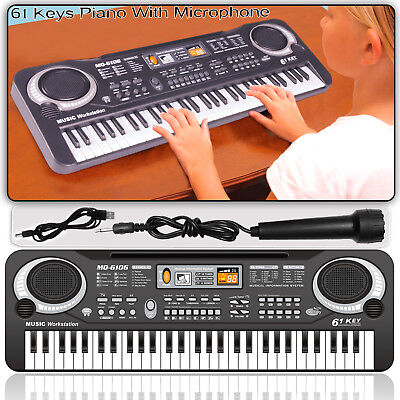 61 Keys Digital Electronic Keyboard & Microphone Electric LED Piano Organ Talent