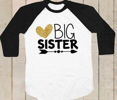 AU Baby Girls Kid Toddler BIG SISTER Long Sleeve Summer T-shirt Casual Clothes