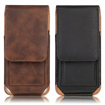 Vertical Leather Holster Belt Clip Pouch Carrying Case Cover for iPhone 8 8Plus