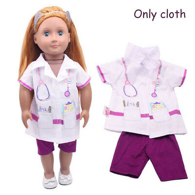 Cute Doctor Wear Set Doll Clothes Fits 43cm Baby Born Zapf or American Girl Doll