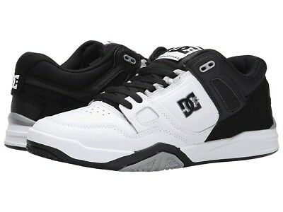 DC Shoes Men's Stag 2 Skate Shoes White/Grey/Black