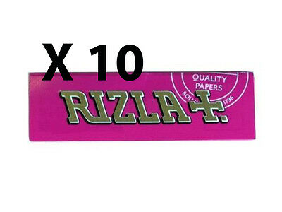 Rizla Pink Regular Cigarette Rolling Papers X 10 Booklets