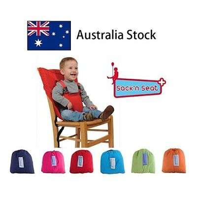 Portable Travel High Chair Booster Baby Seat with Straps Washable Sack
