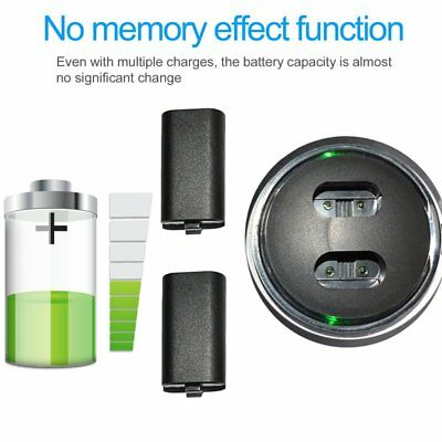 2x Rechargeable Battery+USB Charging Charger Dock For XBOX ONE Controller BU