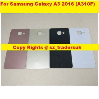 Replacement Rear Back Glass Battery Cover for Samsung Galaxy A3 2016 (A310F)