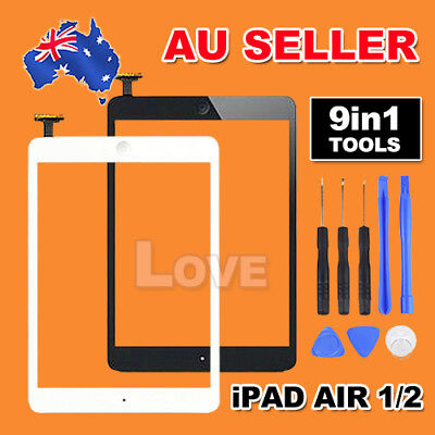 iPad Air 1 2 Black White Digitizer Front Touch Screen Glass Replacement+Tools AU