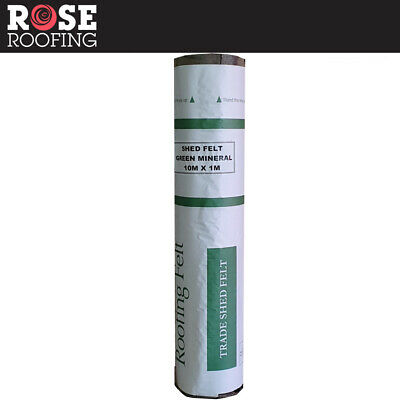 Rose Roofing Shed Roofing Felt + Adhesive   Green Red & Black Mineral Felt