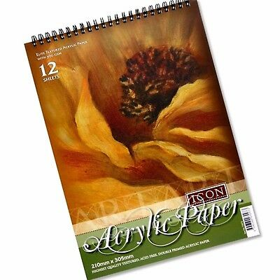 Acrylic Art Painting Paper Pad with 12 Sheets -  A4 ICON 360GSM Artist Pad