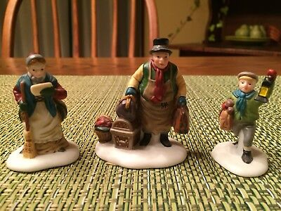 Dept. 56 Dickens Village Come Into the Inn Set of 3 Porcelain Figures