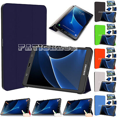"Smart Book Folio Stand Case Cover 2016 Samsung Galaxy Tab A6 10.1"" SM-T585 T580"