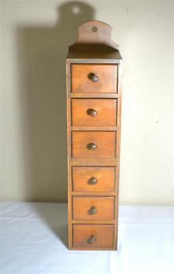 Antique Small Tall Narrow 6 Drawer Maple Cabinet Francis House of Maple