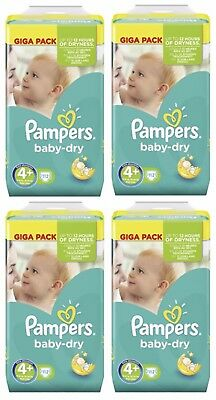 Pampers Baby Dry Lot de 448 Couches Taille 4+ Maxi+ de 9 à 18kg Giga Pack