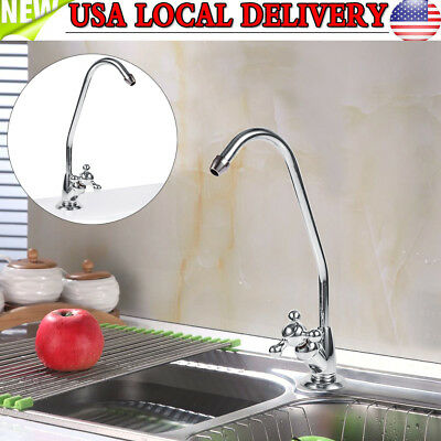 New Stainless Steel Single Spout Kitchen Cold Water Mixer Tap Faucet US SHIP
