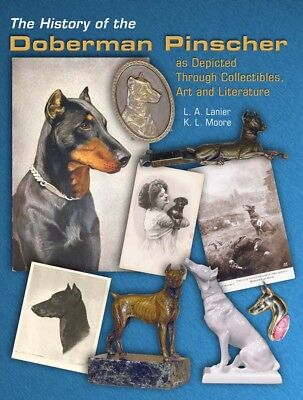 Doberman Pinscher Dog NEW History Book Art Metal Bronze Porcelain Medallion War