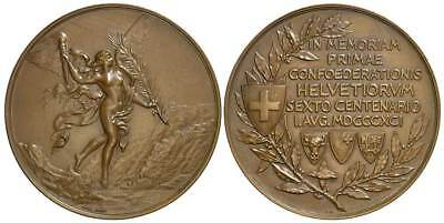 M- CH, Medal 1891, 600 years of the Confederation, 003