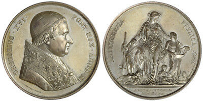 M- Rome, Gregory XVI, Medal 1841, italy