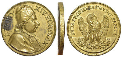 M- Rome, Benedict XIV, Medal nd, Charities of the Pope, P101