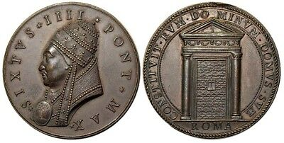 M- Rome, Sixtus IV 1471 - 1484, AE Medal ND, The Holy Door, M151
