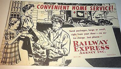 Rare Antique American Railway Express Agency Inc. Advertising Ink Blotter! Old!
