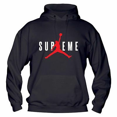 Felpa con CAPPUCCIO Unisex SUPREME JORDAN Vans New York NBA Idea FRUIT LOOM